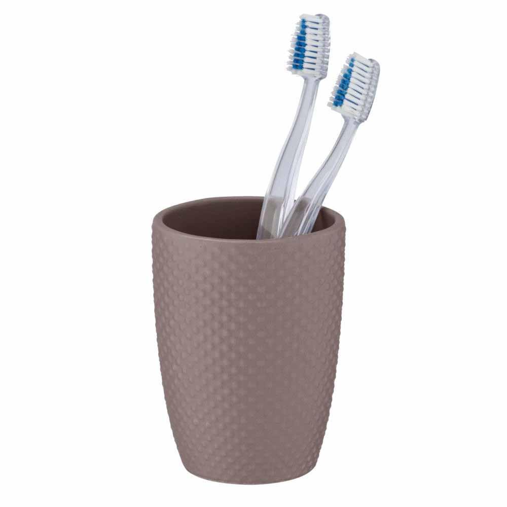 Ποτήρι Οδοντόβουρτσας Wenko Punto Taupe 23637100