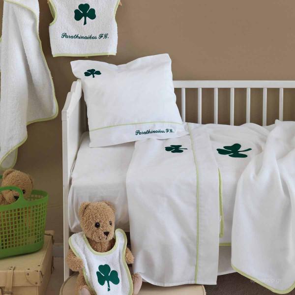 Κουβέρτα Fleece Κούνιας Palamaiki Baby Team PAO