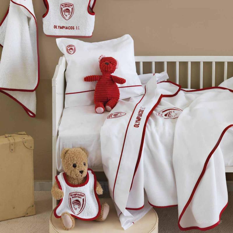 Κουβέρτα Fleece Κούνιας Palamaiki Olympiacos Baby
