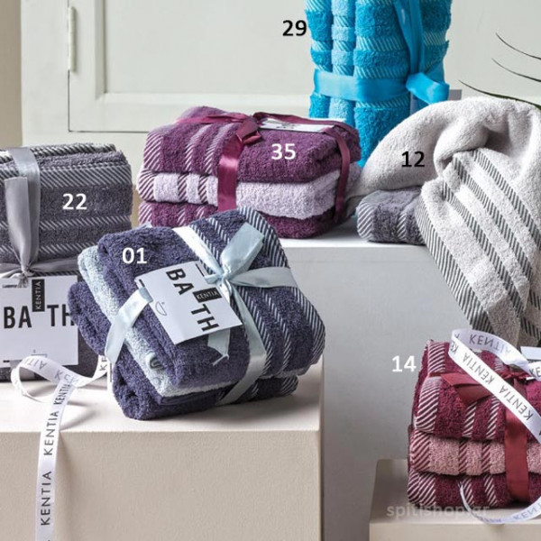 Πετσέτες Προσώπου (Σετ 3τμχ) Kentia Bath Lisa