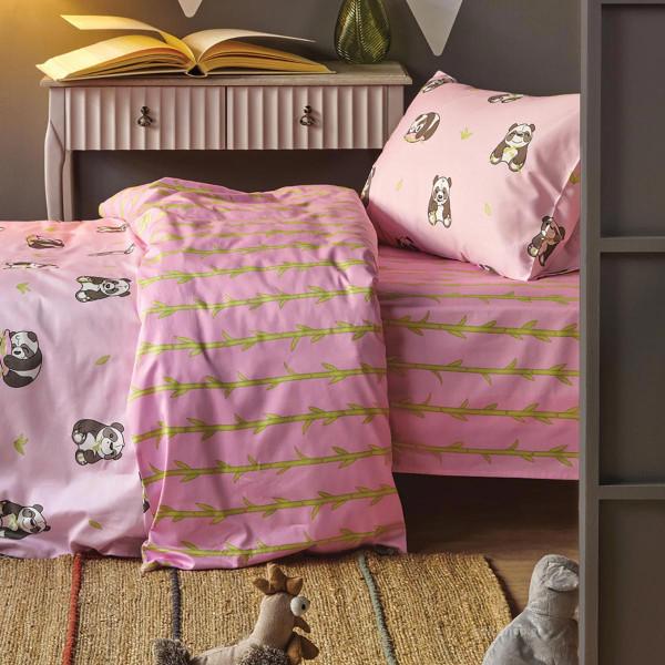Παπλωματοθήκη Μονή (Σετ) Kentia Kids Panda