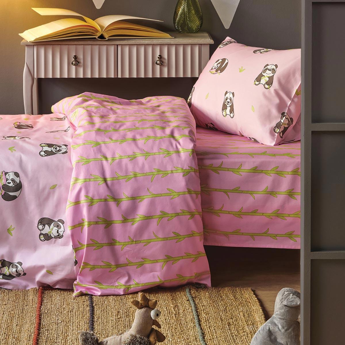 Σεντόνια Μονά (Σετ) Kentia Kids Panda