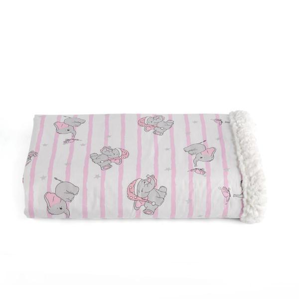 Κουβέρτα Κούνιας Με Γουνάκι Kentia Baby Pinky
