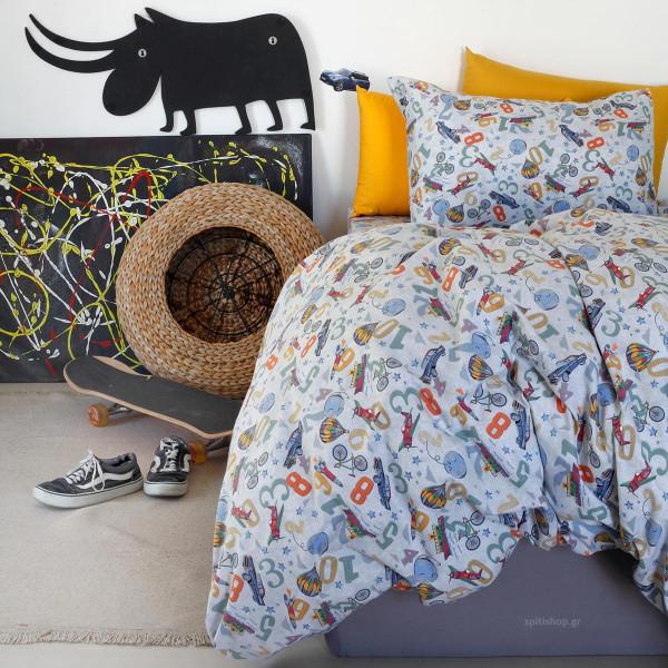 Ζεύγος Φανελένιες Μαξιλαροθήκες Melinen Kids Traveller Multi
