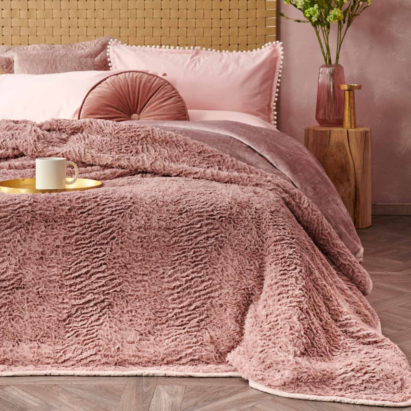 Κουβέρτα Fleece Υπέρδιπλη Palamaiki Bonbon
