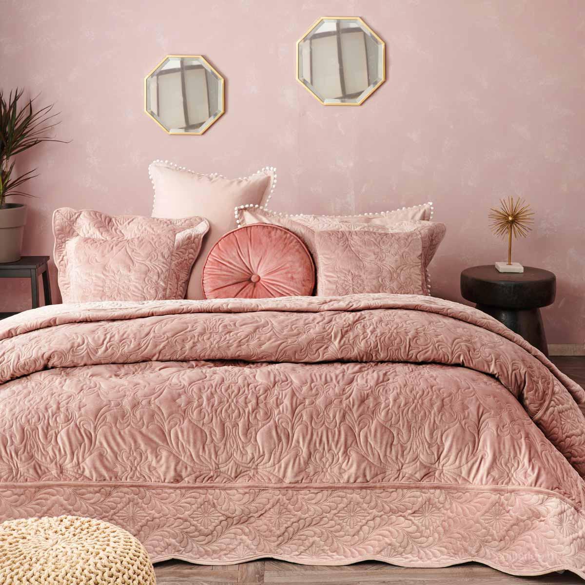 Κουβερλί Υπέρδιπλο Palamaiki Vienne Pink