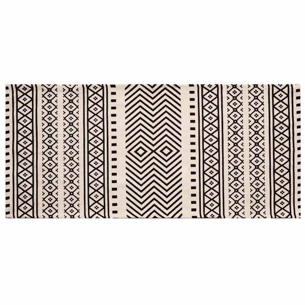 Χαλί Διαδρόμου (60x130) Palamaiki Aztec Black