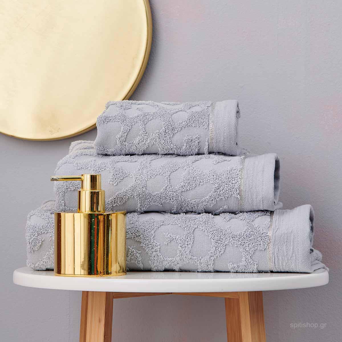 Πετσέτες Μπάνιου (Σετ 3τμχ) Palamaiki Towels Branzi Silver