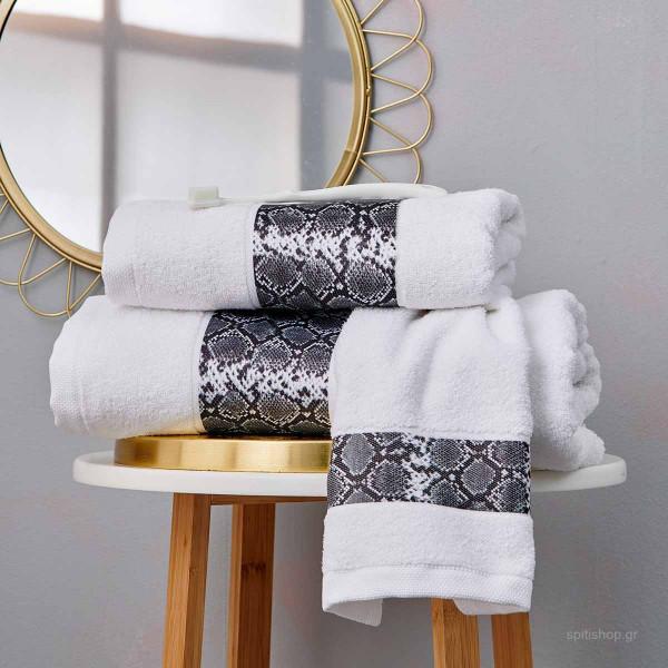 Πετσέτες Μπάνιου (Σετ 3τμχ) Palamaiki Towels Vipper White