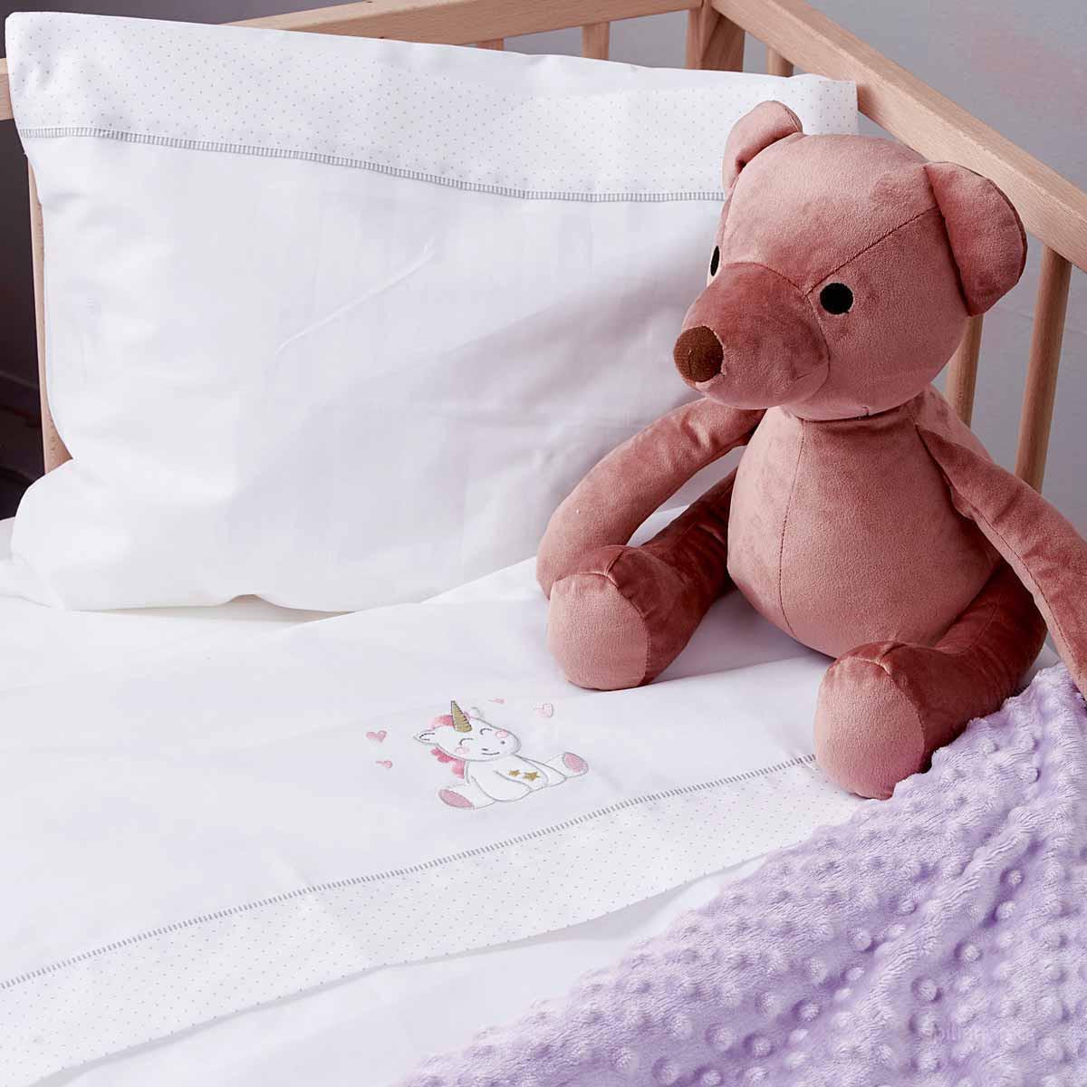 Σεντόνια Κούνιας (Σετ) Palamaiki Baby Joia 521 Pink