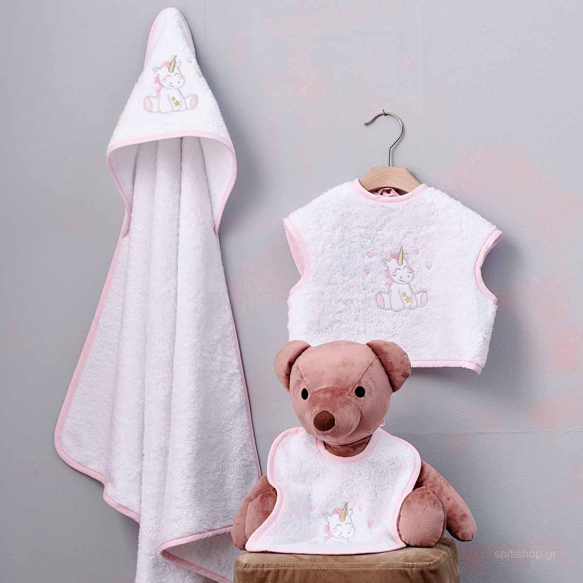 Βρεφικό Σετ Λουτρού Palamaiki Baby Joia 521 Pink
