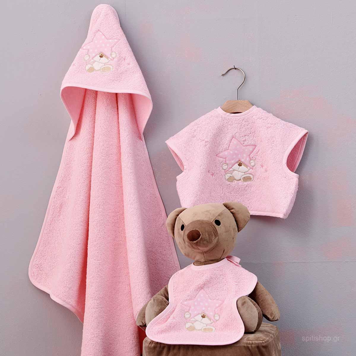 Βρεφικό Σετ Λουτρού Palamaiki Baby Joia 527 Pink