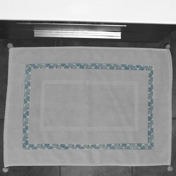 Πετσετέ Πατάκι Μπάνιου White Fabric Palm Mint