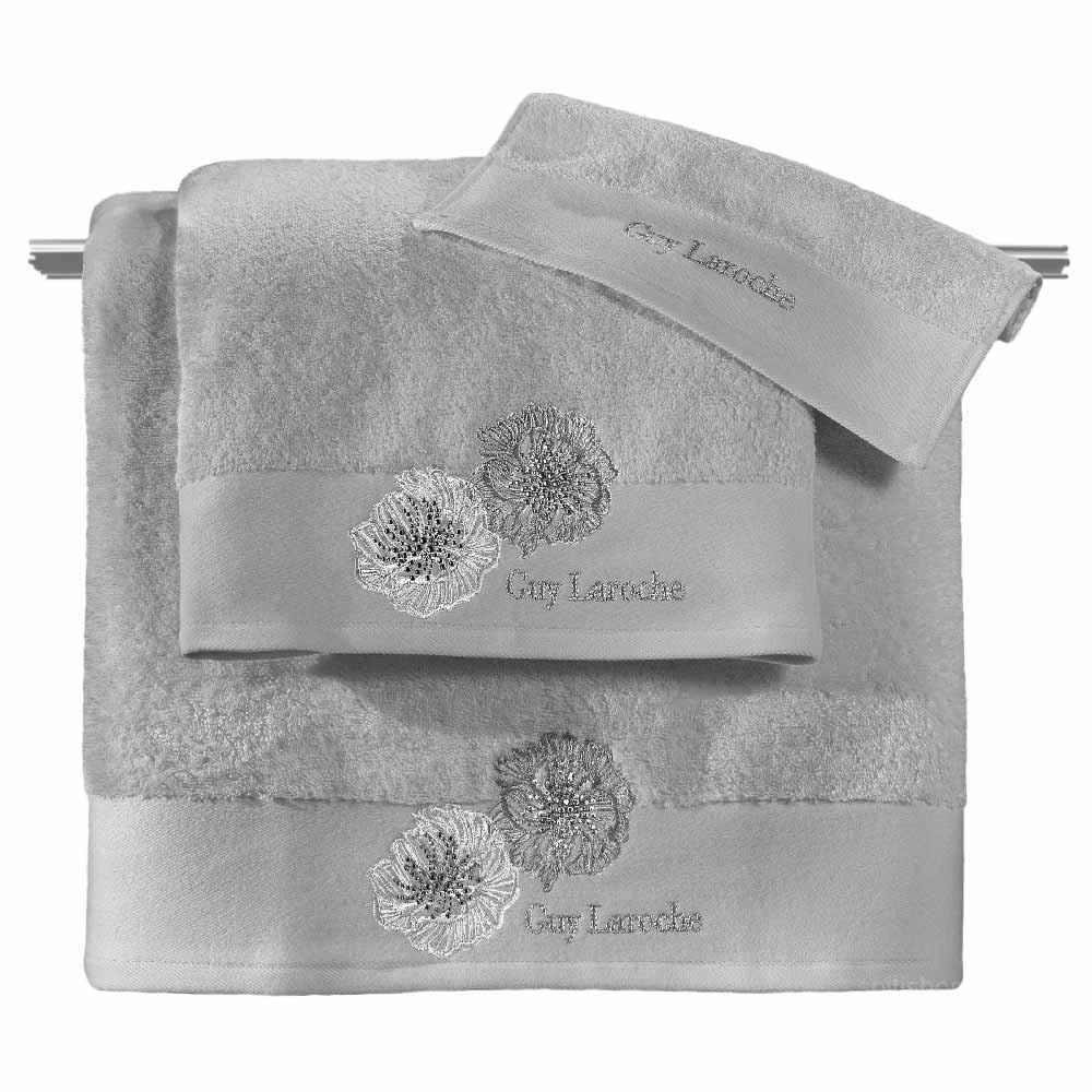 Πετσέτες Μπάνιου (Σετ 3τμχ) Guy Laroche Bolero Silver