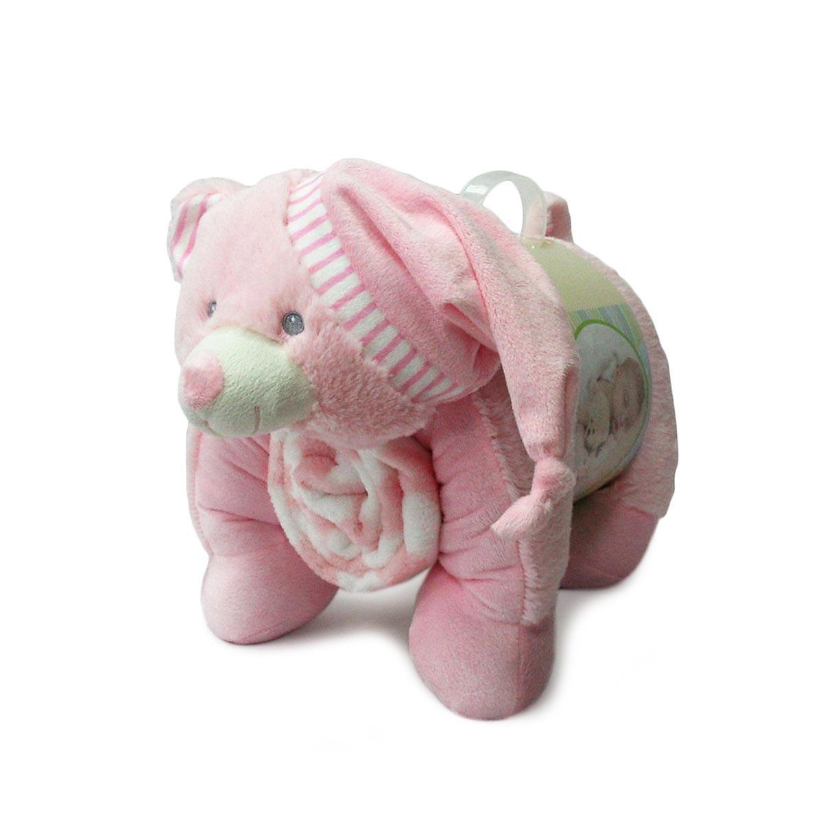 Κουβέρτα Fleece Αγκαλιάς DimCol Ελεφαντάκι 08 Ροζ