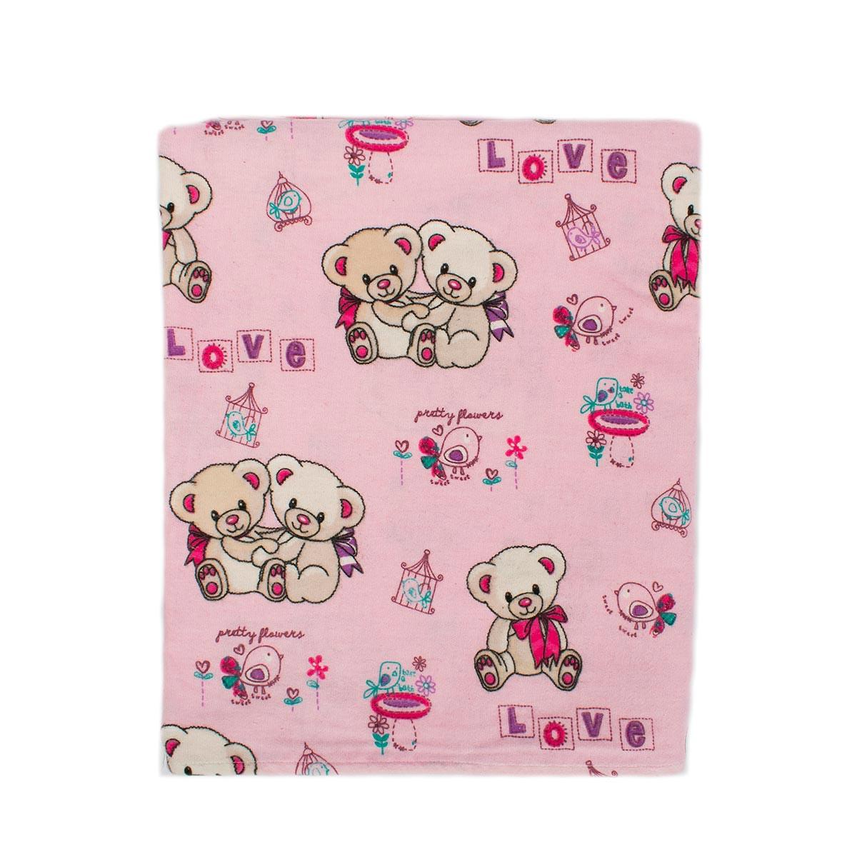 Πάνα Φανελένια Dimcol Pretty Bear 93 Pink