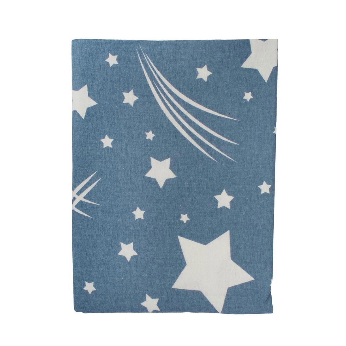 Φανελένια Σεντόνια Κούνιας (Σετ) Dimcol Star 37 Blue