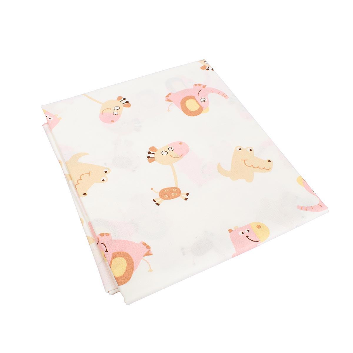 Σεντόνια Μονά (Σετ 3τμχ) Dimcol Elephant 72 Pink