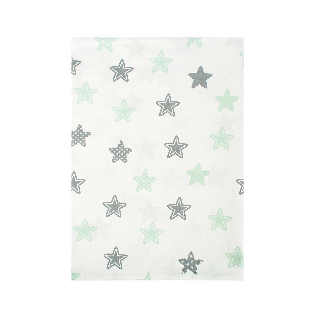 Σεντόνια Μονά (Σετ 2τμχ) Dimcol Star 101 Green