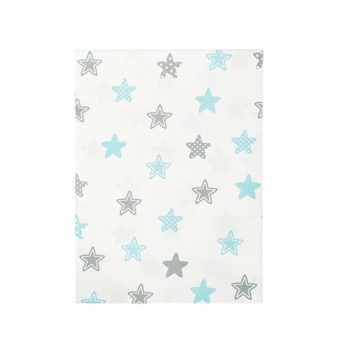 Σεντόνια Μονά (Σετ 2τμχ) Dimcol Star 104 Sky Blue