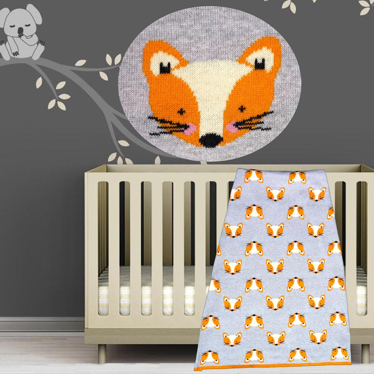 Κουβέρτα Πλεκτή Αγκαλιάς Morven Fox 1830