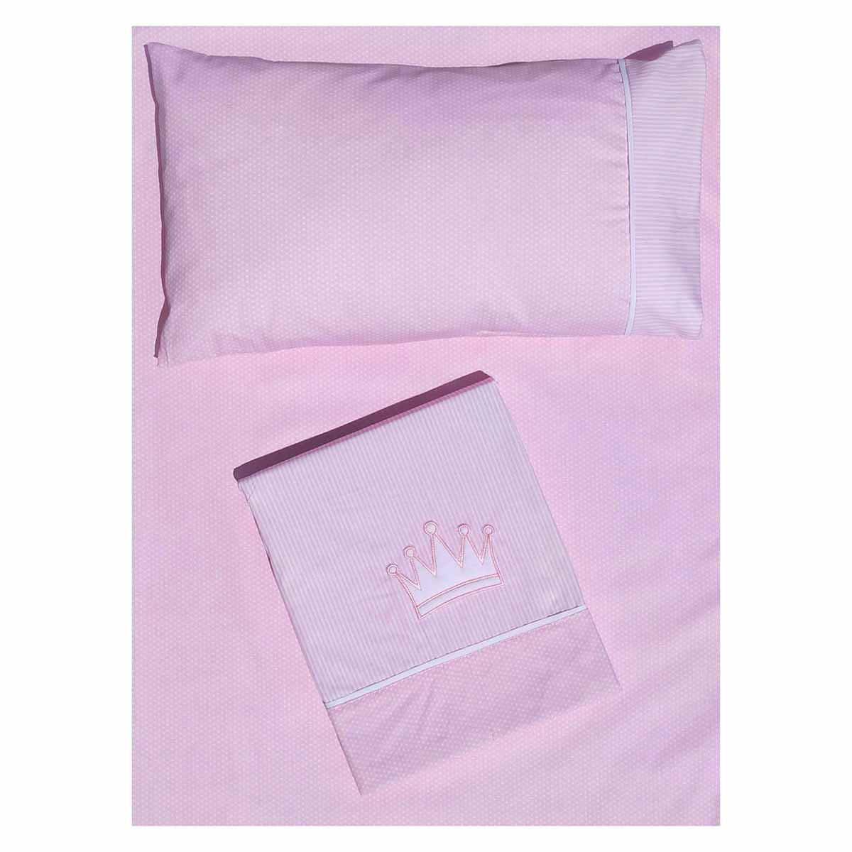 Σεντόνια Κούνιας (Σετ) Morven Cute 1901 Pink