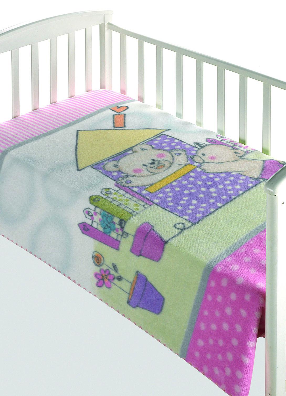 Κουβέρτα Βελουτέ Κούνιας Morven Magic Baby 285 Ροζ