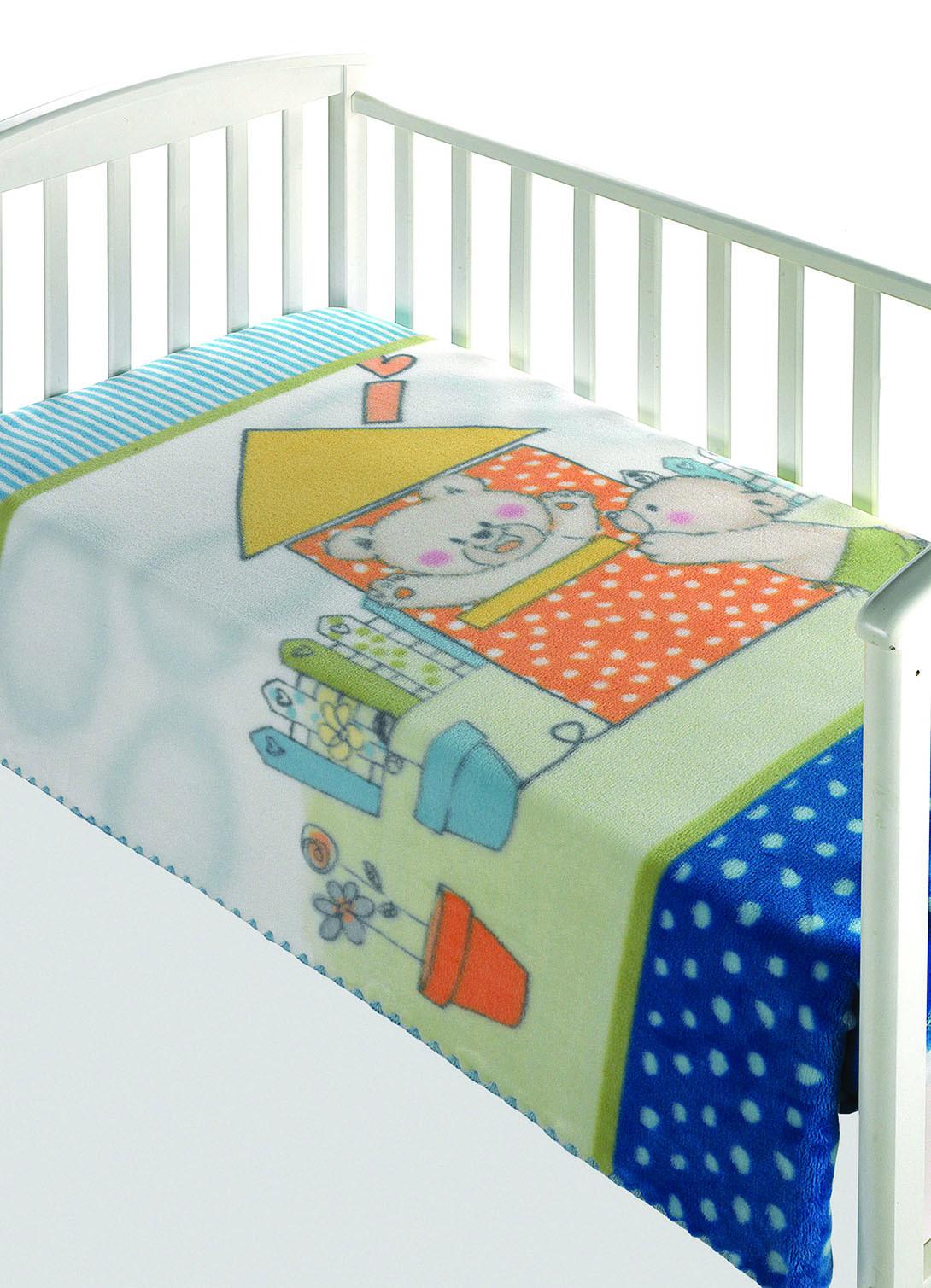Κουβέρτα Βελουτέ Κούνιας Morven Magic Baby 285 Σιέλ