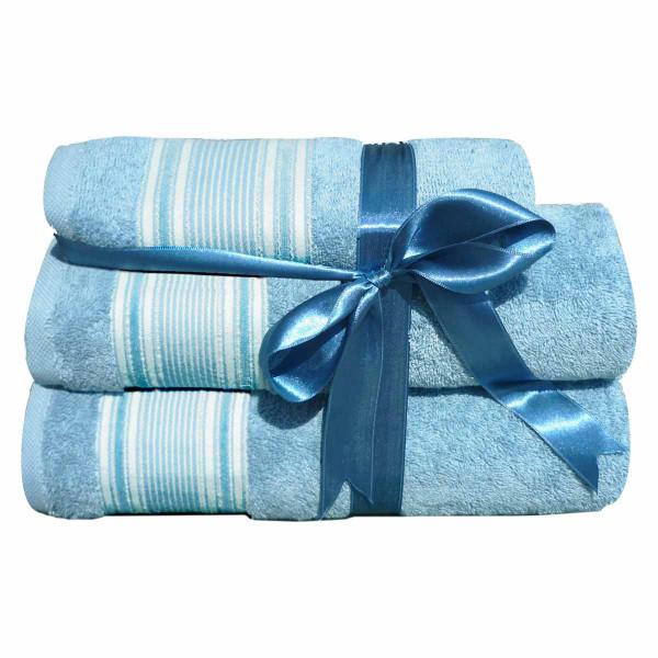Πετσέτες Μπάνιου (Σετ 3τμχ) Morven 1812 Blue