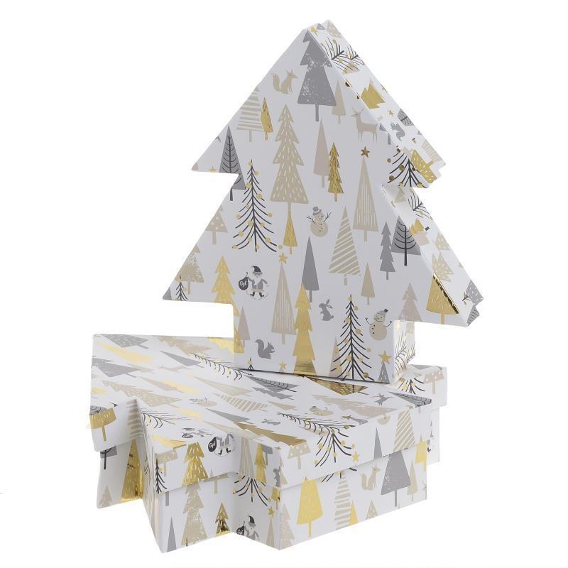 Χριστουγεννιάτικα Κουτιά (Σετ 2τμχ) InArt 2-70-144-0109