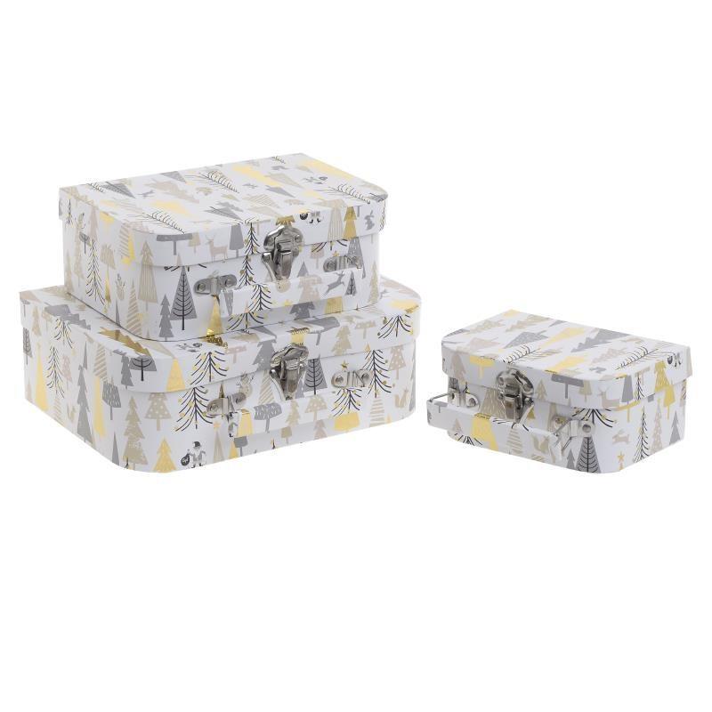 Χριστουγεννιάτικα Κουτιά (Σετ 3τμχ) InArt 2-70-144-0110