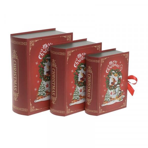 Χριστουγεννιάτικα Κουτιά (Σετ 3τμχ) InArt 2-70-926-0013