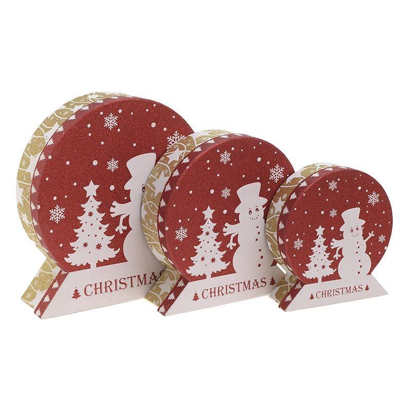Χριστουγεννιάτικα Κουτιά (Σετ 3τμχ) InArt 2-70-926-0015