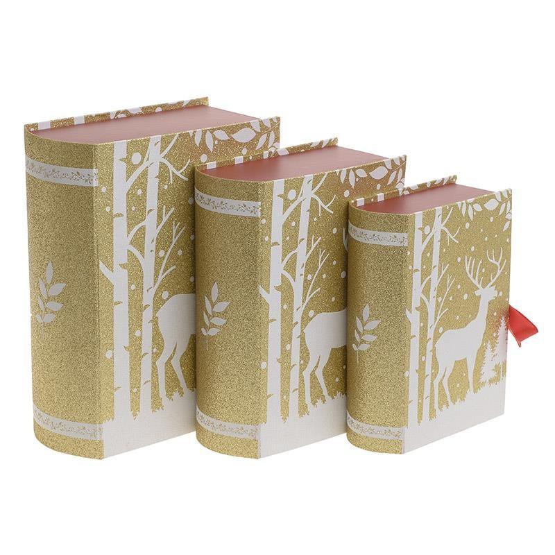 Χριστουγεννιάτικα Κουτιά (Σετ 3τμχ) InArt 2-70-926-0018