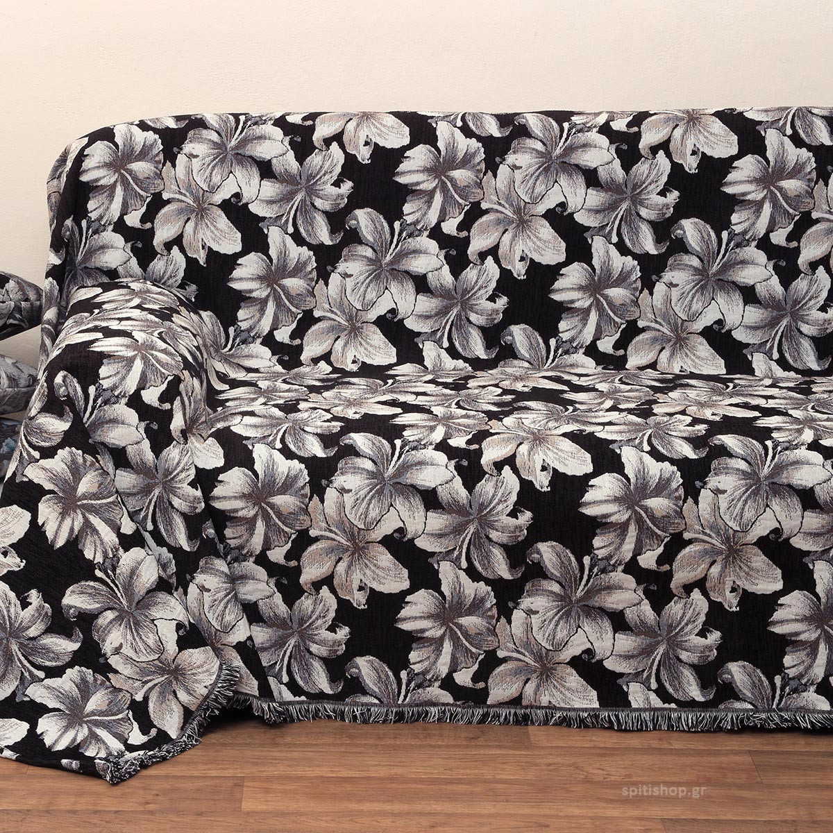 Ριχτάρι Τετραθέσιου (180×320) Anna Riska 1435 Black