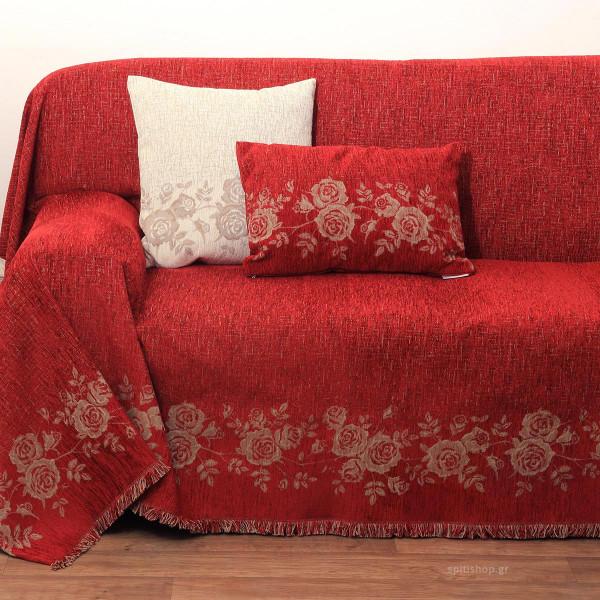 Διακοσμητικό Μαξιλάρι (32x52) Anna Riska 1434 Red
