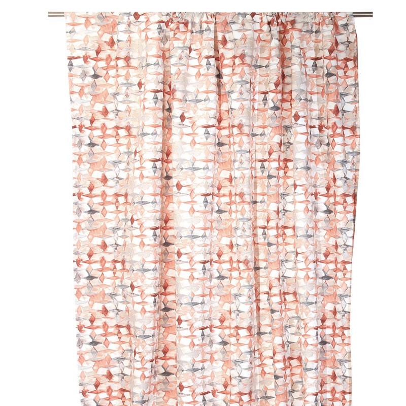 Κουρτίνα (140x270) Με Τρέσα Anna Riska Rubik Blush Pink