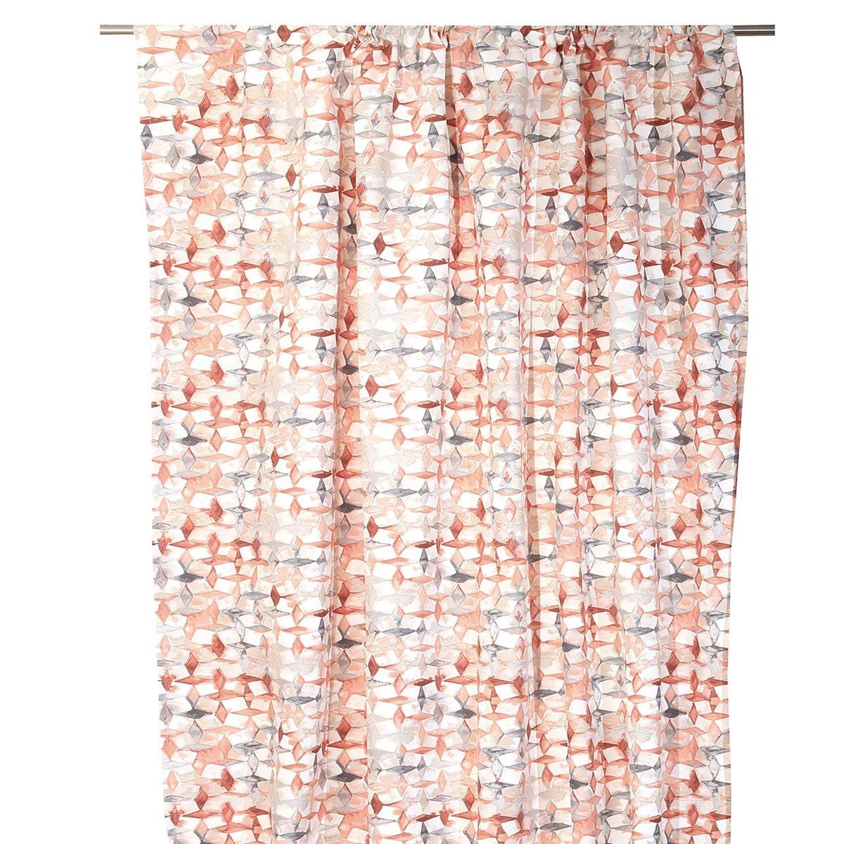 Κουρτίνα (140×270) Με Τρέσα Anna Riska Rubik Blush Pink
