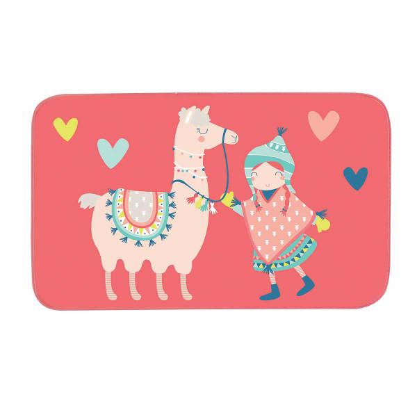 Παιδικό Πατάκι (45x75) Happy Lama 1608367
