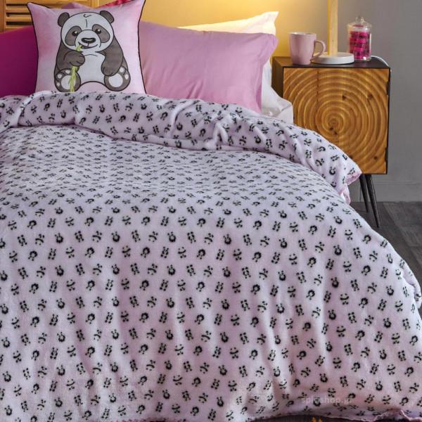 Κουβέρτα Fleece Μονή Kentia Kids Panda