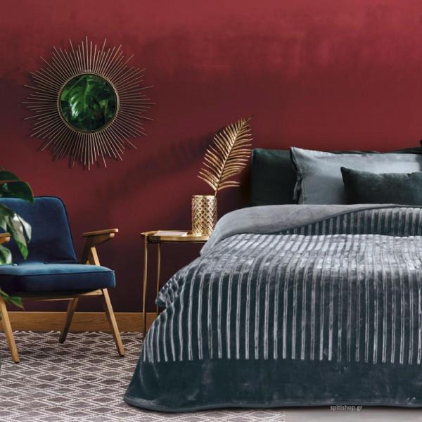 Κουβέρτα Βελουτέ Υπέρδιπλη Das Home Velour 432