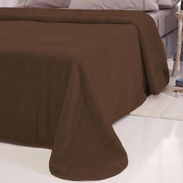Κουβέρτα Βελουτέ Μονή Sb Home Tyrol Brown