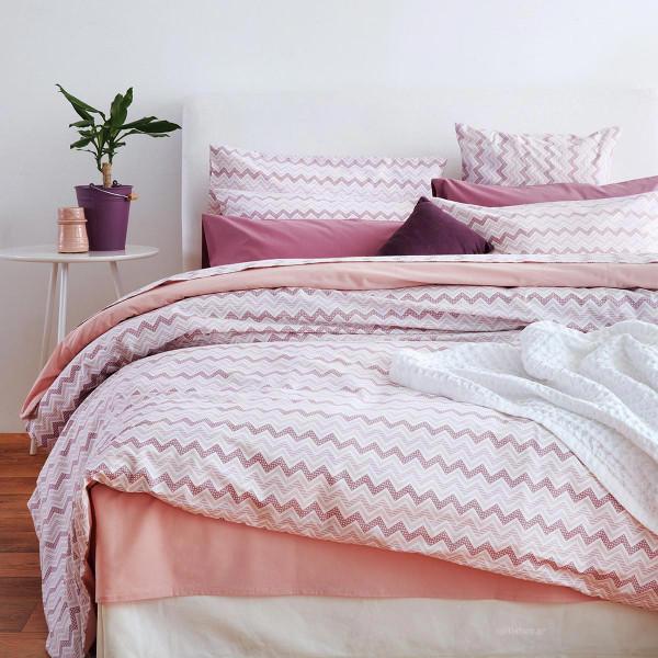 Παπλωματοθήκη Υπέρδιπλη Sb Home Waves Pink