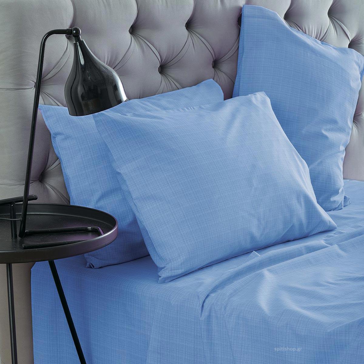 Σεντόνια Υπέρδιπλα (Σετ) Sb Home Lucifer Blue