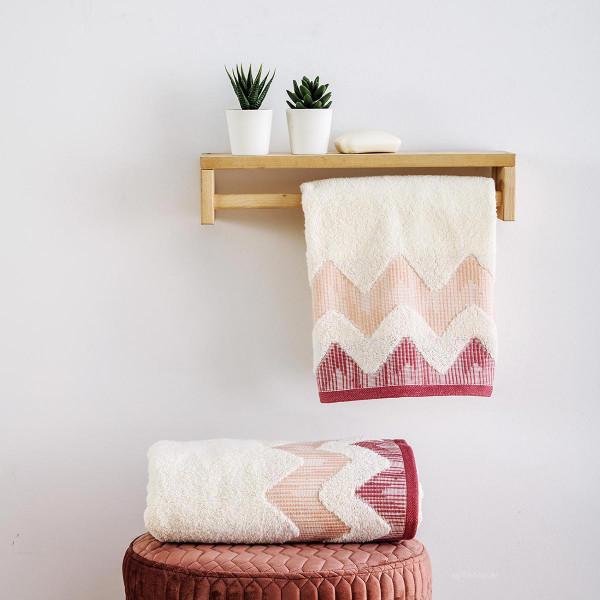 Πετσέτα Προσώπου (50x90) Sb Home Manon Dusty Pink