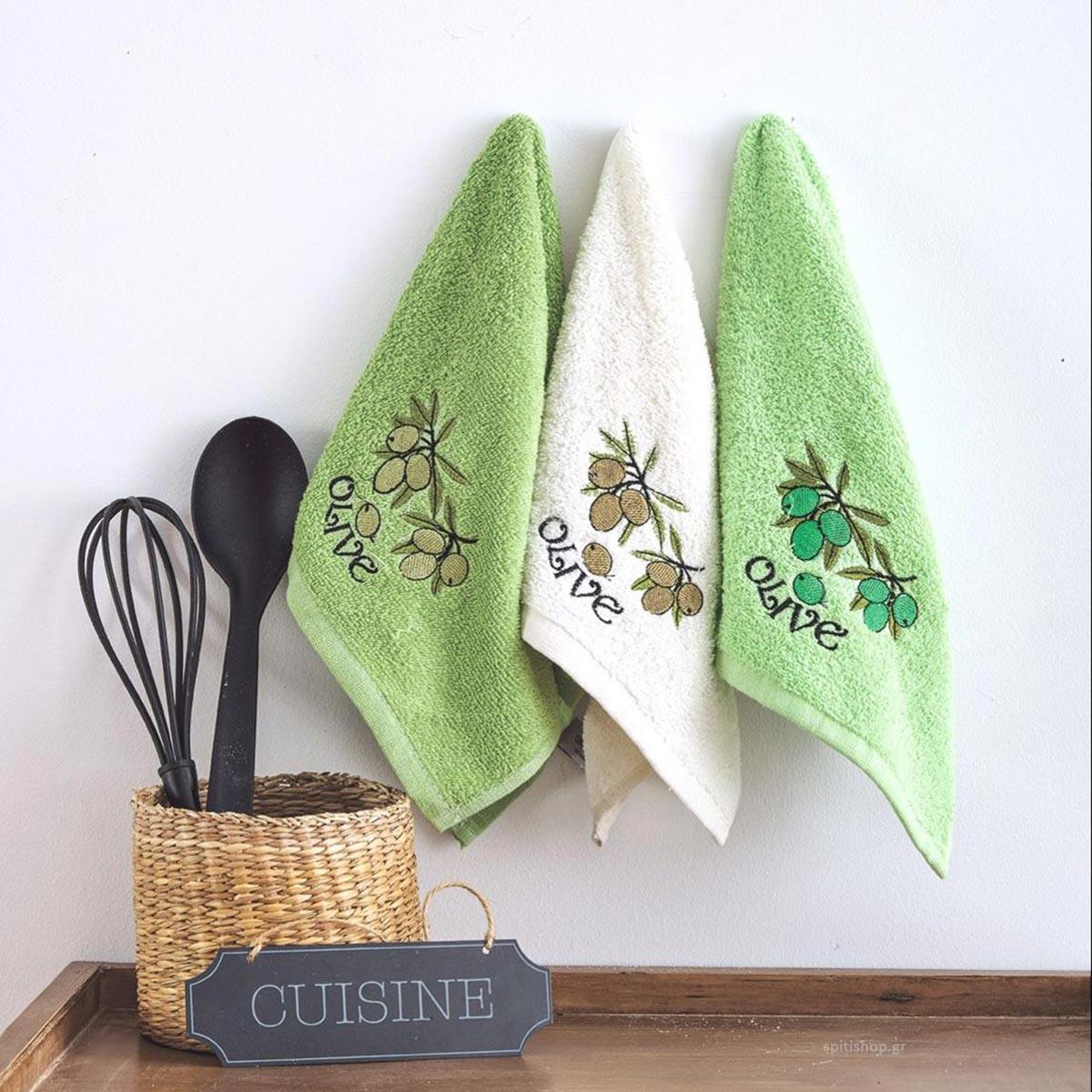 Πετσέτες Κουζίνας (Σετ 3τμχ) Sb Home Coffee Time No1
