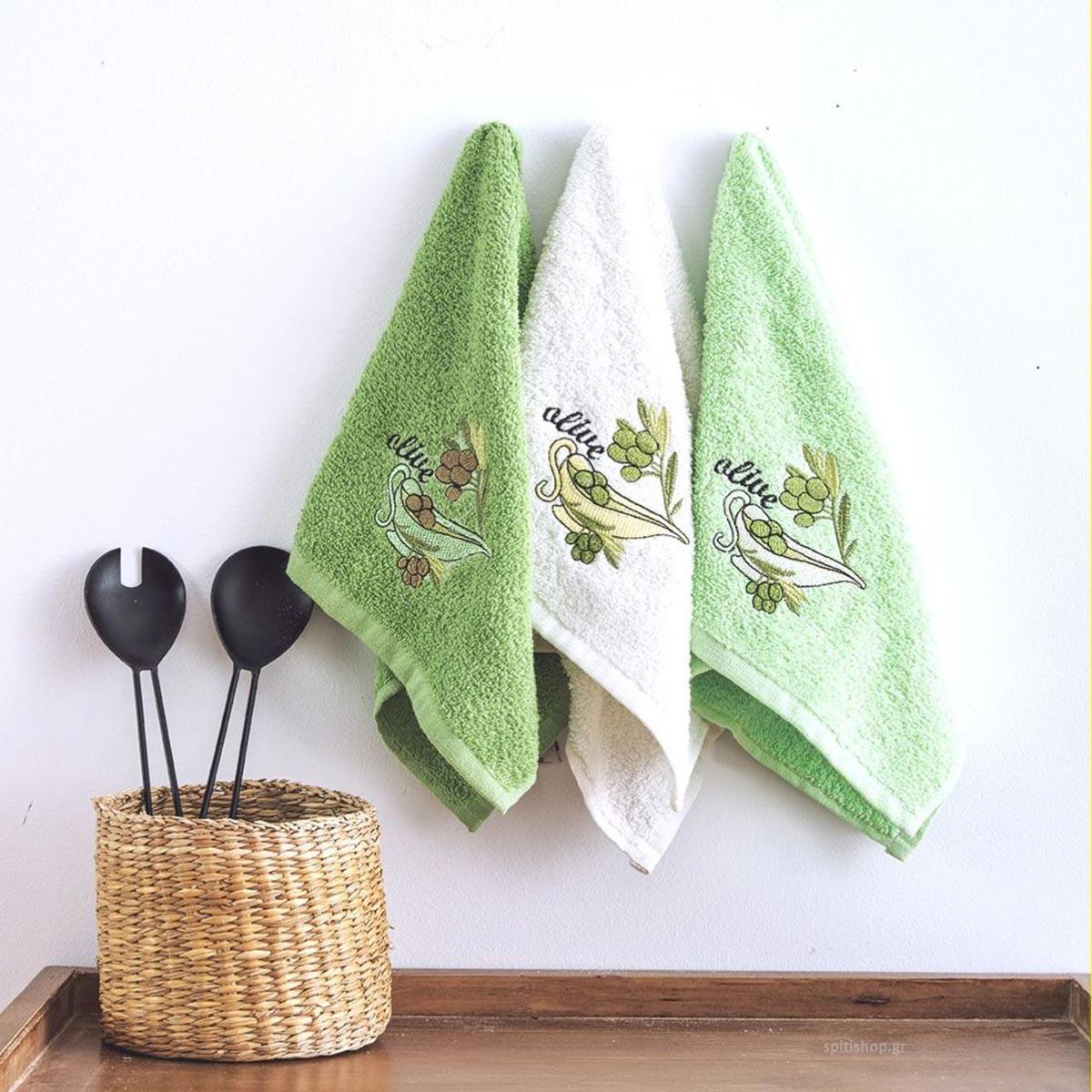 Πετσέτες Κουζίνας (Σετ 3τμχ) Sb Home Coffee Time No3