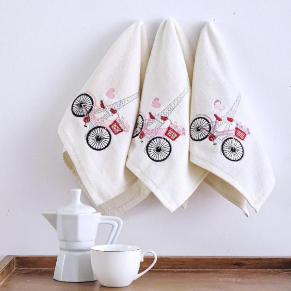 Πετσέτες Κουζίνας (Σετ 3τμχ) Sb Home Coffee Time No7
