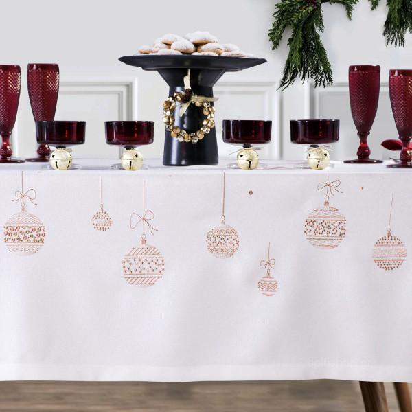 Χριστουγεννιάτικο Τραπεζομάντηλο (160x260) Makis Tselios Fest