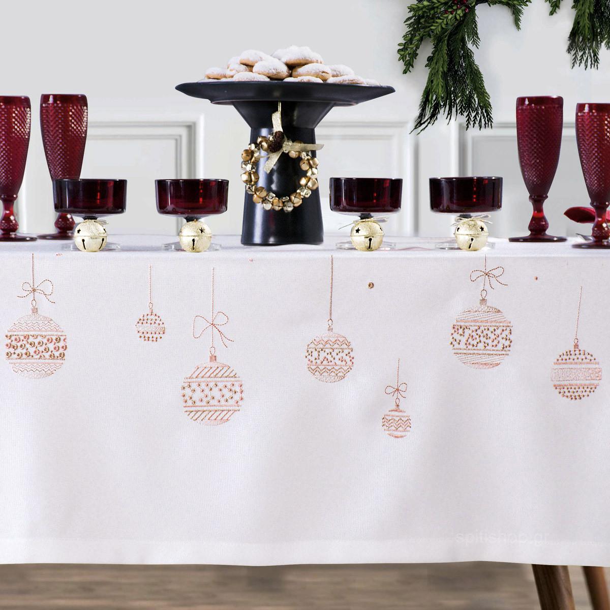 Χριστουγεννιάτικο Τραπεζομάντηλο (160×260) Makis Tselios Fest